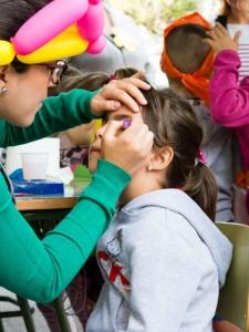 Maquillaje en la 27ª Olimpiada del Colegio Echeyde