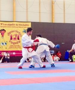 Sergio Santos en un momento de la competición.