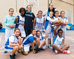Equipo femenino pre-minibasket.