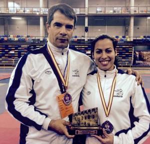 Dulce logra bronce para el Karate de Canarias junto a sus compañeras.
