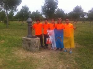 Alumnos del Colegio Echeyde en el Campeonato de España Escolar de Orientación