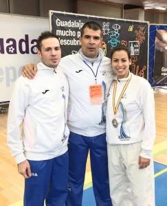 José Fernández, Filo y Dulce Siverio en el Campeonato Nacional Sénior 2016.