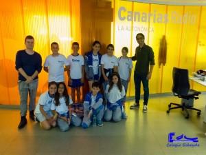 Grupo de alumnos del taller de radio.
