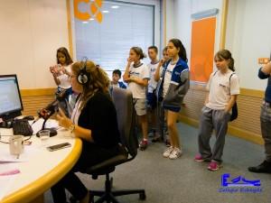 Los alumnos accedieron al estudio que emitía en directo.