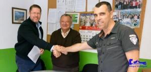Firma del convenio para implementar el Proyecto Bilingüe.