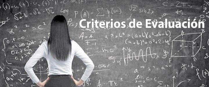 Criterios de evaluación - Colegio Echeyde