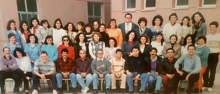 Claustro de profesores en el curso 1993