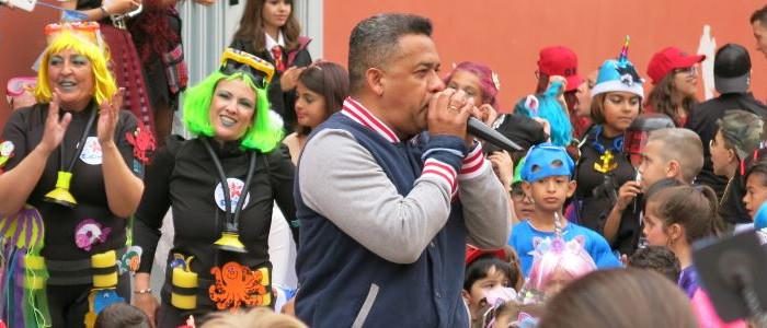 Rafael Flores en el Colegio Echeyde de Santa Cruz de Tenerife